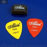 5 PCS/LOT 1pcs Guitar HeadStock Rubber Pick Holder + 2pcs Guitar Picks ZWQ10173