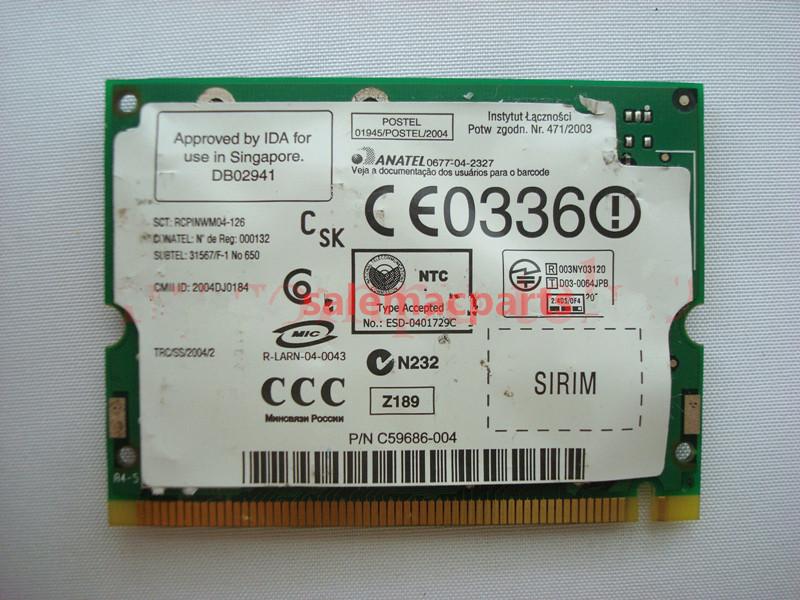 For Dell/Intel B2200BG Wireless Mini PCi Wifi Card Module Adapter for Latitude D610(China (Mainland))