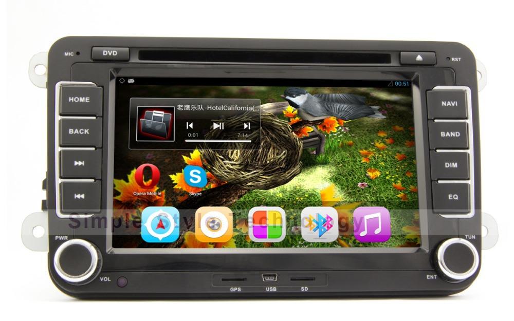 Volkswagen car dvd-player, android 4. 1, gps eingebaut, radio, wifi, bluetooth, dual-core 1gb cpu+ddr3 1gb +8gb flash