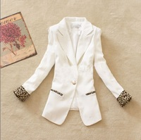 2014 spring female blazer outerwear long-sleeve women's spring and autumn slim suit medium-long suit outwear coat