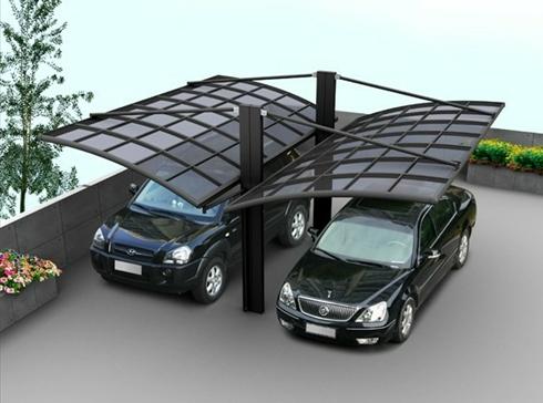 Al alloy safe and fashionable double carports(China (Mainland))