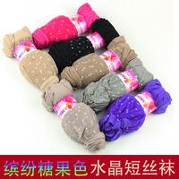 meias femininas 60pcs=30pairs/lot Hot-selling crystal candy color socks sock transparent ultra-thin short invisible socks soks