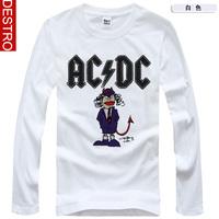 Destro men's clothing long-sleeve T-shirt male acdc 2014 spring band male long-sleeve T-shirt 436