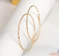 JD3003 Free shipping elegant big circle simple stud earring hoop drop earrings for lady