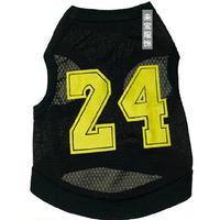 Pet Clothes Summer Breathable Mesh Black NO. 24 Dog Vest T-shirt