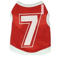 Pet Clothes Mesh Red No.7  Dog Vest T-shirt For Poodle Bichon Chihuahua