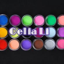 18 Color acrylic Powder liquid Glitter Nail Art Tool Kit UV Dust gem Nail Tools Set 1020(China (Mainland))