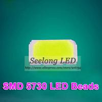 Free shipping high light led 5630 smd leds 50-55lm 5730 leds chip lamp diodes beads white light for led light string par light
