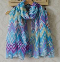 2014 fashion women summer spring scarf,Free shipping,ripples print,geometry print,bohemian style,Muslin hijab,bandana,head wraps