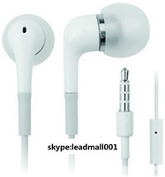 DHL free shipping  fashion 3.5 mm Plug In-Ear EarBud Headphones With Mic  for iPhone 5/4/4S 3GS 100pcs/lot