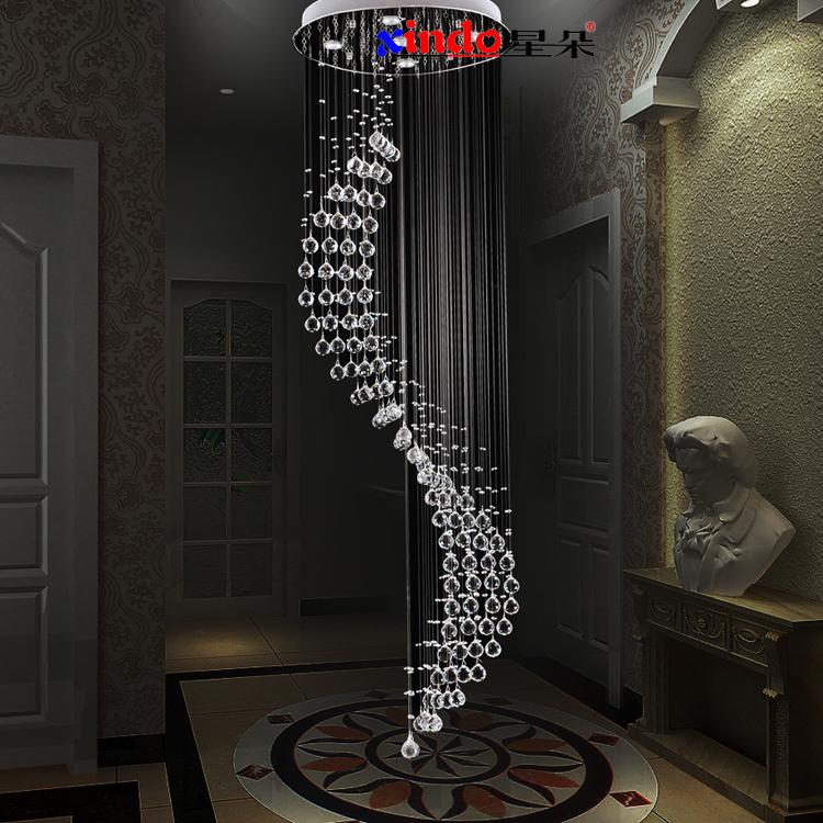 breve híbrido- tipo escada pingente light pingente de cristal luz espiral pingente de cristal de luz(China (Mainland))