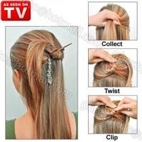 Fashion Black brown Pendants Simple Easy Multifunctional Magic Hair Clip Hairdisk Hair Device Twist N Clip Styling Tool