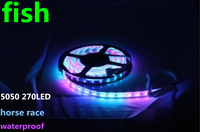 RGB LED Strip Horse Race 5050 SMD Chasing Flexibale Light 270 LED 5M waterproof  Dream Color rope light wholesale 100m/lot