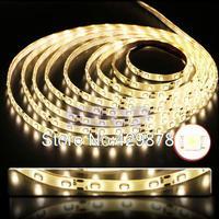 5pcs 5m Warm White 300 led 3528 SMD Waterproof Strip 60leds/m flexible Strip Light String led Lamp lamps 5m