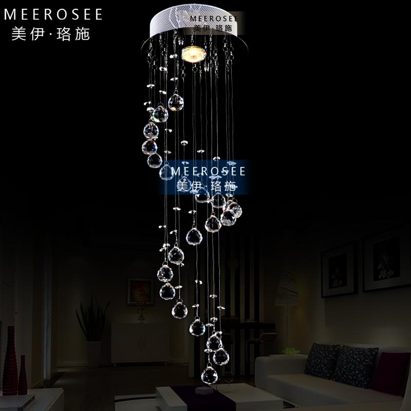 breve lâmpada de cristal moderna levaram sala escada do teto pendente luz lâmpada espiral(China (Mainland))