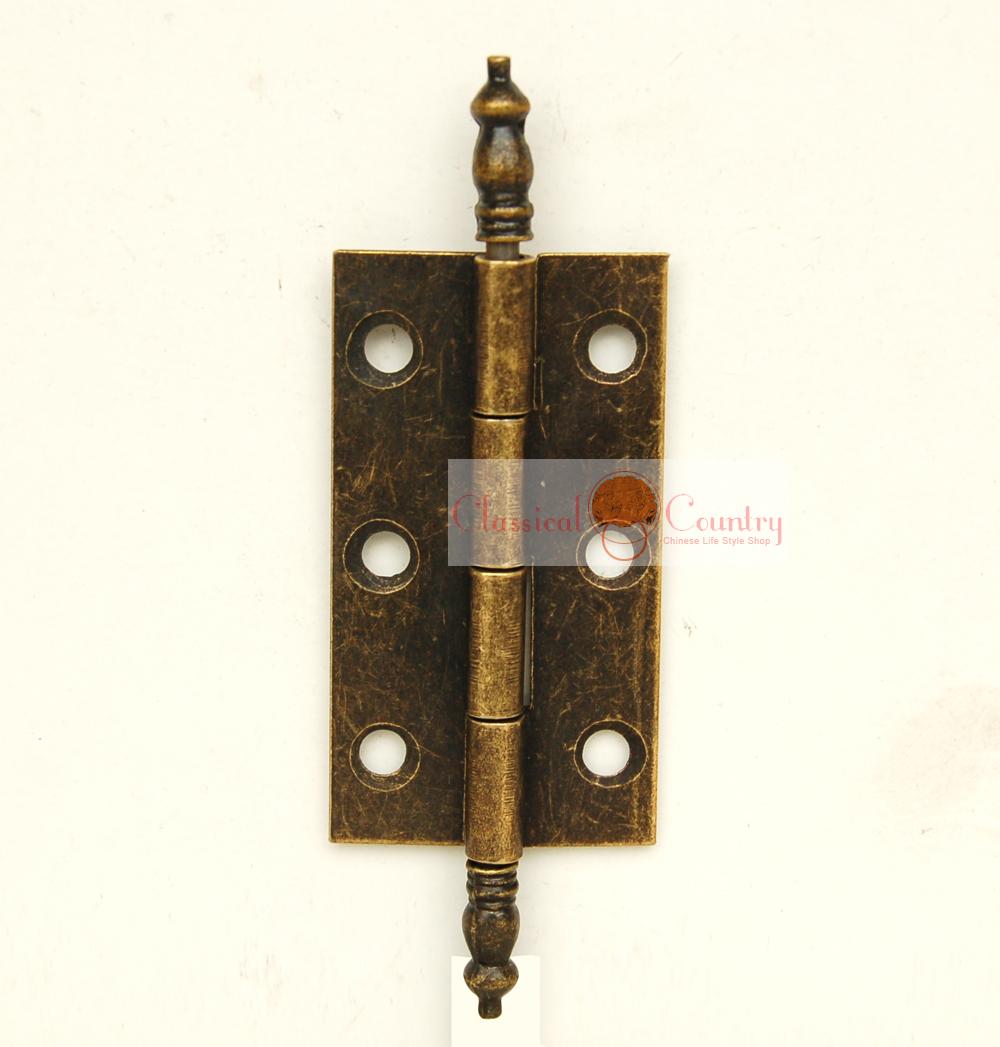 4 sets Antique Hinges for Cabinet Trunk Jewelry Box Storage box Furniture Hardware Hinges Imitation Bronze(China (Mainland))