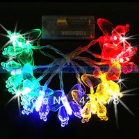 1m Multicolour White LED Butterfly String Light Wedding Party Chrismas Lamp Decoration led lamps tow colour