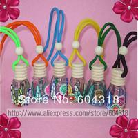 Free shipping 10pcs/pack Car perfume pendant polymer clay perfume hangings car perfume car perfume bottle without  perfume