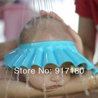 Child shower cap baby shampoo cap infant shampoo cap baby hat shower cap thickening adjustable