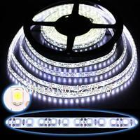 5pcs 5m White 600 led 3528 SMD Waterproof Strip Bright flexible Strip 120leds/m Light Lamp String led lamp led bulb lamps