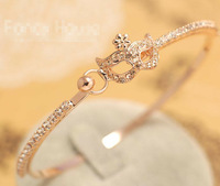 Hot Sale! Fashion Design Jewelry Exquisite luxury small sweet wind fifity shades of grey mask crystal bangle bracelet