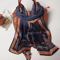 102081 2014 Newest Women's brand Georgette Satin scarf, 100% Silk scarves, rectangle silk scarf, Free Shipping,  Muslim Hijab