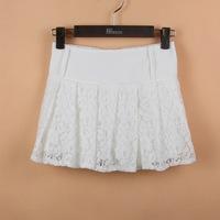 2014 Limited Freeshipping Microfiber Chiffon Above knee, mini Solid New Fake Two Hakama Skirt Skirts Sexy Female Waist with Belt