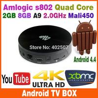 Tronsmart Vega S89 Elite Amlogic S802 Quad Core 2GHz Android TV Box 2.4G/5GHz Dual WiFi 2G/16G Mali450 GPU 4K Player HDMI