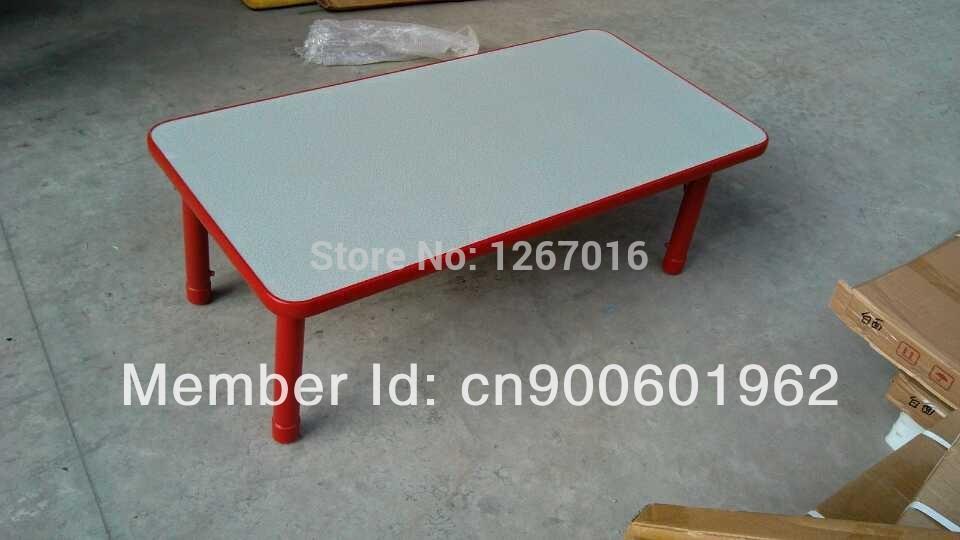 Enviromental-friendly Adjustable Plastic Rectangle Table/Kids Furniture Set Direct Manufacturer(China (Mainland))