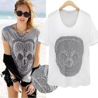 2014 Time-limited Freeshipping Broadcloth Regular Summer New Women Slim Primer Shirt Short-sleeve Cotton Short-sleeved T-shirt