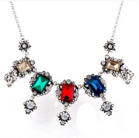 Han edition female brief paragraph clavicle necklace Bohemian crystal palace restoring ancient ways is the necklace