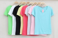 Free shipping  MIX ORDER  wholsale fashion New 2014 Fashion Neck strapless looseshort-sleeved t-shirt bat 10PC/LOT ,HY01
