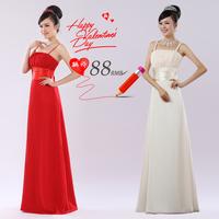 2014 wedding toast clothing long paragraph Slim sweet red dress Bra