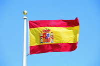 Free Shipping 10pcs/lot The national flag 90 * 150cm Spain flag polyester banner
