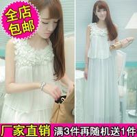 Free shipping+ Small 2014 spring and summer one-piece dress women's bohemia chiffon  full dress beach dress