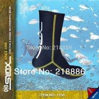 Slinx 1130 3mm Diving socks  Color BLACK  3mm Thickness Anti-slip Soles Thermal Socks Swimming Socks Diving Boots