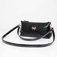 genuine leather crocodile pattern fashion day clutch women's vintage fashion banquet bag with handle