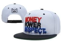 New Hot  TMT The Money Team Snapback hats  money power respect   white mens women classic adjustable sports cap freeshiping  !