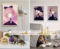 New  High Definition Sweet Cartoon Flower Girl canvas art poster  -  1pc/lot 20x 25cm  24 designs