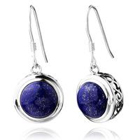 High quality silver 925 pure silver natural lapis lazuli earrings earring Women - gift customization blue