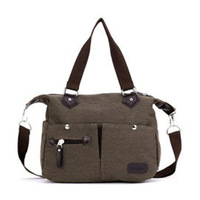 2014 vintage rivet canvas bag women's handbag messenger bag student bag