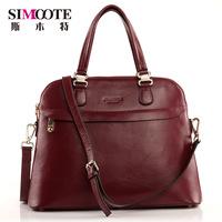 Spring and summer new arrival maroon genuine leather multifunctional women's bag ol handbag one shoulder cross-body handbag