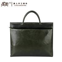 Sunday handmade formal briefcase handbag cross-body women's handbag genuine leather 13bwm1509