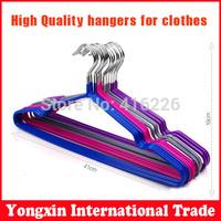 Free shipping 10pcs/Lot  clothesline  coat hanger magic hanger slip-resistant flock printing clothes rack clothes hanging