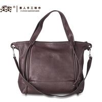 Sunday handmade one shoulder formal casual handbag cross-body bag big women's handbag genuine leather bsc1426