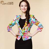 Dora fashion women's summer new arrival 2014 fashion elegant short jacket three quarter sleeve blazer