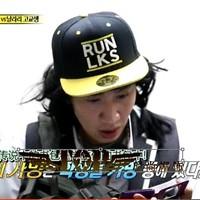 Running man hat run lks embroidery flat brim baseball cap flat