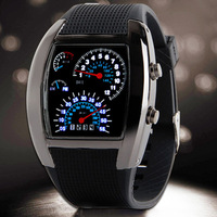 Fashion LED Watches Men Silicone Strap Digital Watch GT Brand Car Design Sport Watches