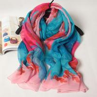 103019 2014 Newest Women's crinkle GGT Scarf, 100% Silk scarves, big rectangle silk scarf, Free Shipping, Muslim Hijab 180x110cm