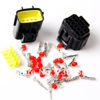 5kit 10 Pin Sealed Waterproof Car Electrical Wire Connector Plug 0.18cm  FREESHIPPING  DH